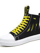 cheap -Men's Comfort Shoes Canvas Fall & Winter Casual / Preppy Sneakers Walking Shoes Warm White / Green / Black / Yellow / Orange / Black