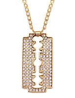 cheap -Men's Pendant Necklace Classic Mini Simple Chrome Gold Golden 2 60 cm Necklace Jewelry 1pc For Daily