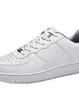 cheap -Men's Comfort Shoes Synthetics Spring / Fall Sporty / Classic Sneakers Non-slipping Black / White