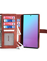 cheap -Case For Huawei Huawei P20 / Huawei P20 Pro / Huawei P20 lite Wallet / Card Holder / Shockproof Full Body Cases Solid Colored PU Leather