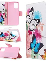 cheap -Case For Samsung Galaxy S10 / Galaxy S10 Plus / Galaxy S10 E Wallet / Card Holder / with Stand Full Body Cases Butterfly PU Leather For Galaxy S11/S11E/S11 Plus/Note 10 Plus/A20E/A71/A51