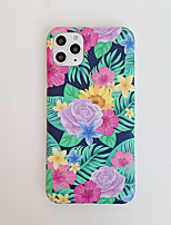 cheap -Case for Apple scene map iPhone 11 11 Pro 11 Pro Max X XS XR XS Max 8 Retro flower pattern thickened frosted TPU material IMD process all-inclusive mobile phone case