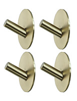 cheap -Adhesive Round Hooks 4 Pieces  Durable 304 Stainless Steel Wall Hangers Waterproof Rustproof Oil Proof for Kitchen Bathrooms Doors Office Closet-Black Silver Golden 3M03-4Y