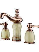 cheap -Bathroom Sink Faucet - Widespread Rose Gold Other Two Handles Three HolesBath Taps