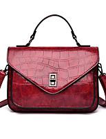 cheap -Women's Rivet / Zipper Faux Leather / PU Top Handle Bag Solid Color Black / Brown / Wine