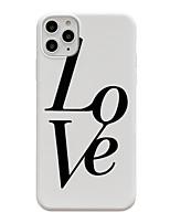 abordables -étui pour apple iphone 11 / iphone 11 pro / iphone 11 pro max motif couverture arrière mot / phrase tpu x xs xsmax xr 8 8plus 7 7plus 6 6s 6plus 6splus
