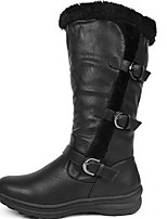 cheap -Women's Boots Flat Heel Round Toe PU Mid-Calf Boots Fall & Winter Black / Brown / Yellow
