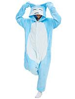 abordables -Adulte Pyjamas Kigurumi Ronflex Combinaison de Pyjamas Molleton Bleu Cosplay Pour Homme et Femme Pyjamas Animale Dessin animé Fête / Célébration Les costumes / Collant / Combinaison