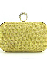 cheap -Women's / Girls' Glitter Synthetic Evening Bag Solid Color Black / Gold / Silver