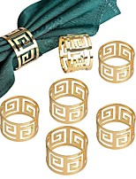 abordables -5 pcs serviette anneaux porte-serviette ouest dîner serviette serviette anneau fête décoration table