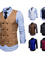 cheap -Gentleman Kingsman Vintage Masquerade Vest Waistcoat Men's Costume White / Black / Burgundy Vintage Cosplay Event / Party Sleeveless