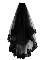 cheap -Two-tier Classic & Timeless Wedding Veil Fingertip Veils with Solid Tulle
