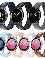 abordables -Smartwatch Band pour Samsung Galaxy 46 / Gear S3 / S3 Classic / S3 Frontier / Gear 2 R380 / 2 Neo R381 Sport Band High-End Fashion Boucle en cuir confortable Bracelet en cuir véritable 22mm