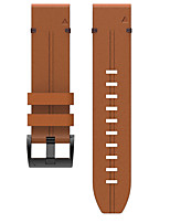 cheap -Watch Band for Fenix 5 / Fenix 5 Plus / Garmin Quatix 5 Garmin Leather Loop Genuine Leather Wrist Strap