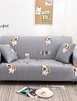 cheap -Grey Cartoon Squirrel Print Dustproof All-powerful Slipcovers Stretch Sofa Cover Super Soft Fabric Couch Cover with One Free Pillow Case