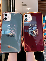 cheap -Case For Apple iPhone 11 / iPhone 11 Pro / iPhone 11 Pro Max /6/6p/7/8/7p/8p/x/xr/xsmax Dustproof / Plating / IMD Back Cover Cat TPU