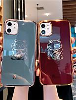abordables -cas pour apple iphone 11 / iphone 11 pro / iphone 11 pro max / 6 / 6p / 7/8 / 7p / 8p / x / xr / xsmax antipoussière / placage / imd coque arrière chat tpu