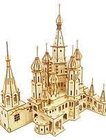 cheap -3D Puzzle Wooden Puzzle Cathedral Simulation Hand-made Wooden 569 pcs Kid's Adults' All Toy Gift