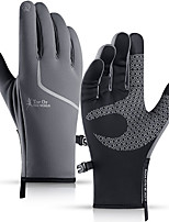 cheap -Winter Bike Gloves / Cycling Gloves Windproof Warm Wearable Stretchy Full Finger Gloves Sports Gloves Fleece Black Black / Orange Grey for Adults Cycling / Bike Activity & Sports Gloves