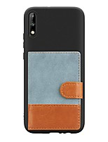 cheap -Case For Huawei Y9(2019) / Y7 Prime (2019) / Y6 Pro (2019) Card Holder / with Stand / Ultra-thin Back Cover Canvas PU Leather / TPU Case For Huawei Y7 Pro (2019)/Y5 (2018)/Y3 (2018)/Y6 (2019)/Y7(2019)