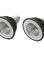 cheap -2pcs 7 W LED Spotlight 500 lm GU10 GU10 1 LED Beads COB Dimmable Warm White White 220-240 V