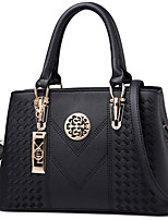cheap -Women's Polyester / PU Top Handle Bag Solid Color Black / Purple / Blushing Pink