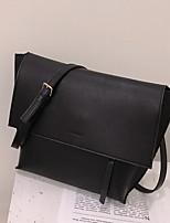 cheap -Women's Zipper PU Top Handle Bag Solid Color Black / Brown / Khaki