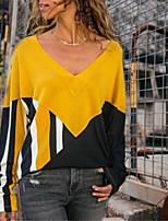 abordables -Tee-shirt Femme, Bloc de Couleur Violet