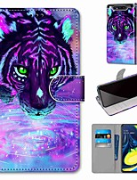 cheap -Case For Samsung Galaxy S10 / S10 Plus / S10 E Wallet / Card Holder / with Stand Tiger Drinking Wate PU Leather / TPU for A10s / A20s / A50(2019) / A70(2019) / A90(2019) / Note 10 Plus / J6 Plus(2018)