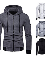 cheap -Men's Full Zip Cotton Track Jacket Running Jacket Hoodie Jacket Cowl Neck Running Fitness Jogging Windproof Breathable Quick Dry Sportswear Jacket Hoodie Long Sleeve Activewear Micro-elastic