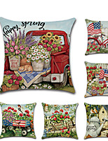 cheap -1pcs Spring Pillow Cover Cushion Cover Flag Flower Digital Printing