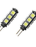 cheap -2pcs 2 W LED Bi-pin Lights 150 lm G4 13 LED Beads SMD 5050 Warm White White 12 V