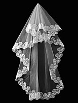 cheap -Two-tier Classic & Timeless Wedding Veil Elbow Veils with Solid Tulle