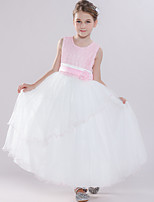 cheap -Princess Dress Masquerade Flower Girl Dress Girls' Movie Cosplay A-Line Slip Cosplay Halloween Pink Dress Halloween Carnival Masquerade Tulle Polyester