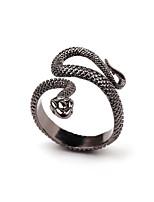 cheap -Couple's Band Ring 1pc Black Alloy Geometric Punk Trendy Daily Jewelry Geometrical Hope Cool
