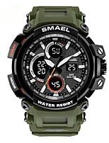 cheap -Men's Sport Watch Digital Stylish Stainless Steel Black 50 m Water Resistant / Waterproof Chronograph Alarm Clock Analog - Digital Casual Outdoor - Black Golden+Black Black / Blue Two Years Battery