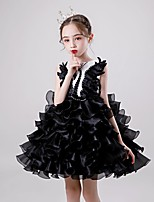 cheap -Black Swan Dress Masquerade Flower Girl Dress Girls' Movie Cosplay A-Line Slip Cosplay Halloween Black / Red Dress Halloween Carnival Masquerade Tulle Cotton