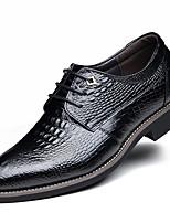 abordables -Homme Chaussures Formal Cuir Printemps été / Automne hiver Business / Simple Oxfords Respirable Noir / Marron