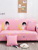 Недорогие -Розовый мультфильм Kawaii печати пыленепроницаемый всесильный чехлы на стрейч чехол для дивана супер мягкая ткань чехол для дивана с одной бесплатной наволочкой