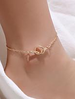abordables -Homme Femme Sandales Pieds Nus Bracelet de cheville Bracelet de cheville Bijoux Blanche / Dorée Pour Cadeau Quotidien Carnaval Plein Air Festival