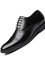 cheap -Men's Leather Shoes Leather Spring & Summer / Fall & Winter Business / Casual Oxfords Breathable Black / Brown