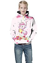 cheap -Kids Boys' Basic Color Block 3D Print Long Sleeve Hoodie & Sweatshirt Blushing Pink
