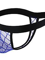 cheap -Men's Mesh G-string Underwear - Normal Low Waist Black Royal Blue M L XL