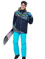 cheap -Phibee Men's Ski Jacket with Pants Skiing Camping / Hiking Winter Sports Windproof Warm Winter Sports Polyester Warm Top Warm Pants Clothing Suit Ski Wear