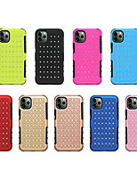 cheap -Case For Apple iPhone 11 / iPhone 11 Pro / iPhone 11 Pro Max Shockproof / Rhinestone Back Cover Solid Colored TPU / PC