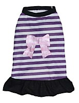 cheap -Dog Dress Dog Clothes Purple Costume Cotton Stripes Cosplay XS S M L