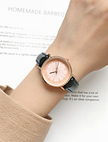 cheap -Women's Quartz Watches Flower New Arrival Black White Brown Stainless Steel PU Leather Chinese Quartz Black Rose Gold White Chronograph Cute New Design 1 pc Analog One Year Battery Life