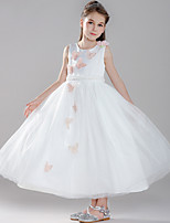 abordables -Princesse Robe Bal Masqué Robe de demoiselle d'honneur Fille Cosplay de Film Robe trapèze Cosplay Halloween Blanche Robe Halloween Carnaval Mascarade Tulle Polyester