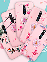 cheap -Case For Vivo Vivo X20 Plus / Vivo X20 / Vivo X9s Plus Shockproof / with Stand Back Cover Flower TPU