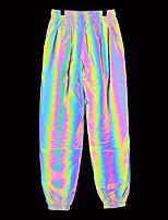 cheap -Men's Jogger Pants Joggers Running Pants Laser Sports Pants / Trousers Running Fitness Jogging Thermal / Warm Reflective Breathable Solid Color Sillver Gray / Micro-elastic